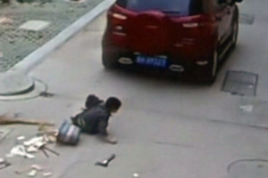 Child run over by SUV