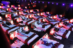 Cinema with beds