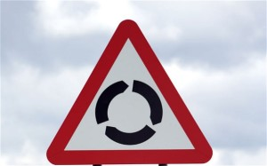 Trafic circle confuses Chinese